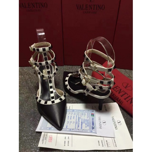 Replica Valentino High-Heeled Shoes For Women #871460 $85.00 USD for Wholesale