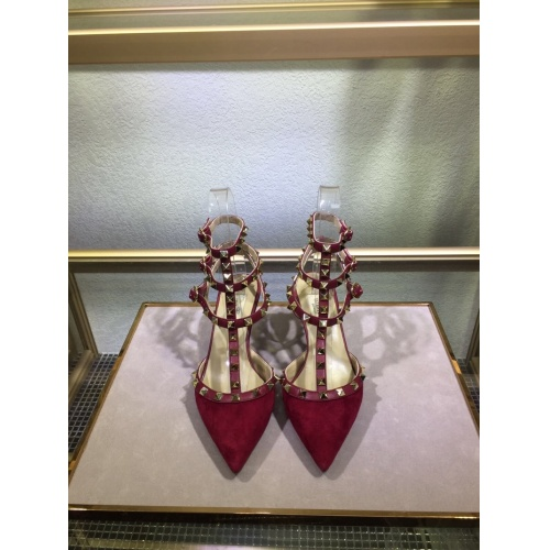 Valentino High-Heeled Shoes For Women #871461 $85.00 USD, Wholesale Replica Valentino High-Heeled Shoes