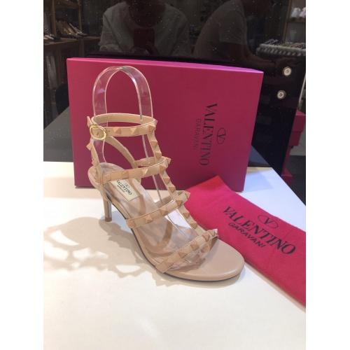 Replica Valentino High-Heeled Shoes For Women #871467 $85.00 USD for Wholesale