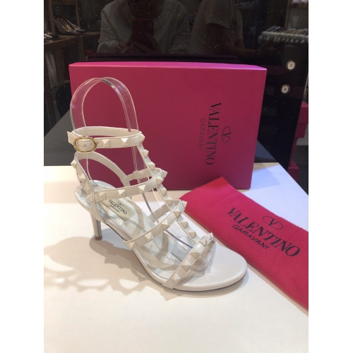 Replica Valentino High-Heeled Shoes For Women #871469 $85.00 USD for Wholesale