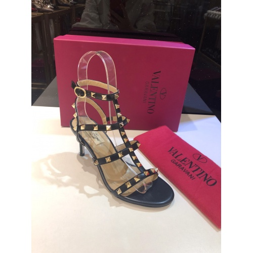 Replica Valentino High-Heeled Shoes For Women #871471 $85.00 USD for Wholesale