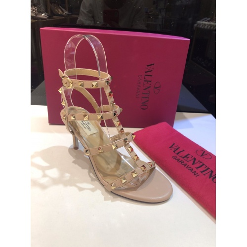 Replica Valentino High-Heeled Shoes For Women #871472 $85.00 USD for Wholesale