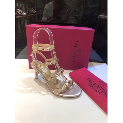 Valentino High-Heeled Shoes For Women #871473 $85.00 USD, Wholesale Replica Valentino High-Heeled Shoes