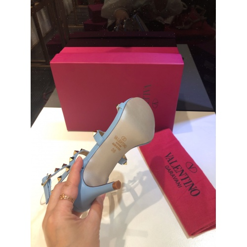 Replica Valentino High-Heeled Shoes For Women #871475 $85.00 USD for Wholesale