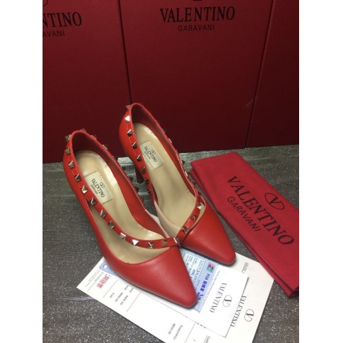 Valentino High-Heeled Shoes For Women #871477 $85.00 USD, Wholesale Replica Valentino High-Heeled Shoes