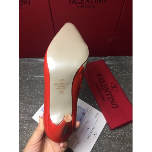 Replica Valentino High-Heeled Shoes For Women #871477 $85.00 USD for Wholesale