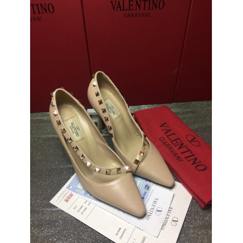 Valentino High-Heeled Shoes For Women #871478 $85.00 USD, Wholesale Replica Valentino High-Heeled Shoes