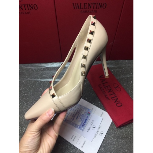 Replica Valentino High-Heeled Shoes For Women #871478 $85.00 USD for Wholesale