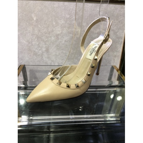 Replica Valentino High-Heeled Shoes For Women #871480 $85.00 USD for Wholesale