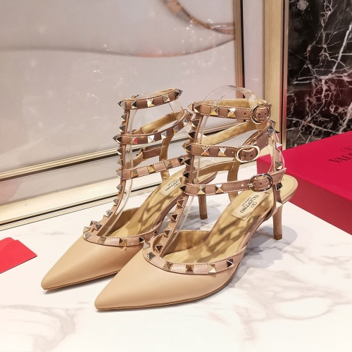 Valentino High-Heeled Shoes For Women #871499 $85.00 USD, Wholesale Replica Valentino High-Heeled Shoes