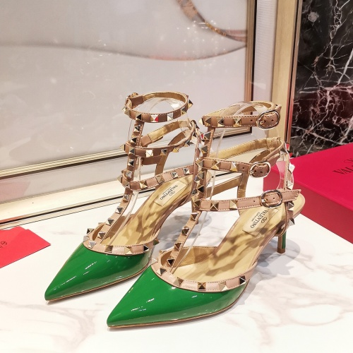 Valentino High-Heeled Shoes For Women #871505 $85.00 USD, Wholesale Replica Valentino High-Heeled Shoes
