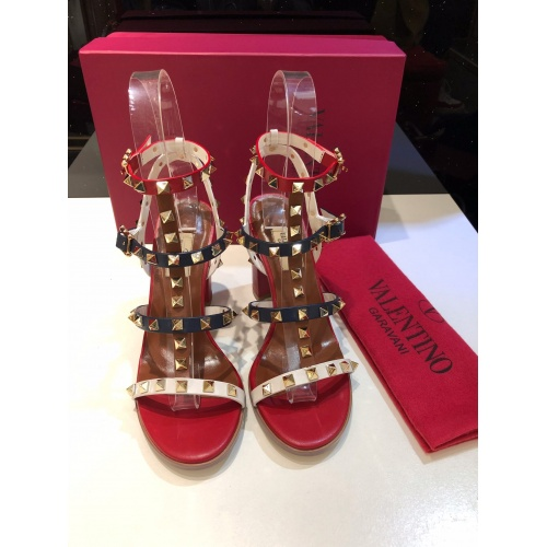 Replica Valentino High-Heeled Shoes For Women #871533 $81.00 USD for Wholesale