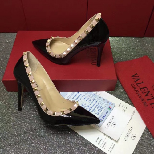 Valentino High-Heeled Shoes For Women #871534 $81.00 USD, Wholesale Replica Valentino High-Heeled Shoes