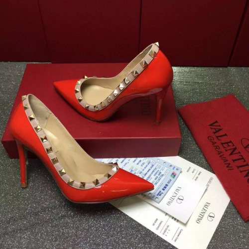 Valentino High-Heeled Shoes For Women #871535 $81.00 USD, Wholesale Replica Valentino High-Heeled Shoes