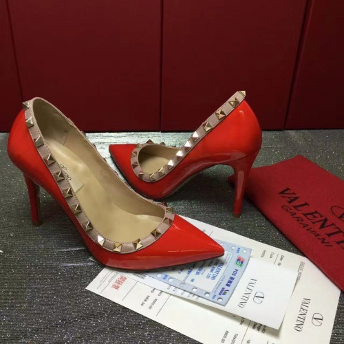 Replica Valentino High-Heeled Shoes For Women #871535 $81.00 USD for Wholesale