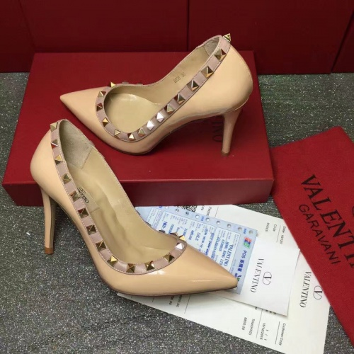 Valentino High-Heeled Shoes For Women #871536 $81.00 USD, Wholesale Replica Valentino High-Heeled Shoes