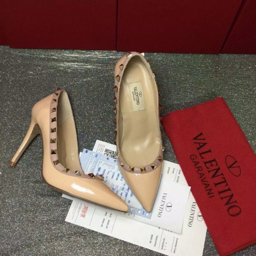 Replica Valentino High-Heeled Shoes For Women #871536 $81.00 USD for Wholesale