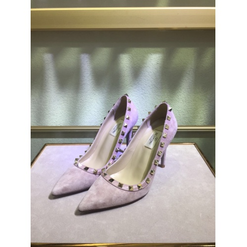 Valentino High-Heeled Shoes For Women #871539 $81.00 USD, Wholesale Replica Valentino High-Heeled Shoes