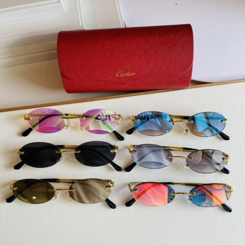 Replica Cartier AAA Quality Sunglasses #873519 $45.00 USD for Wholesale