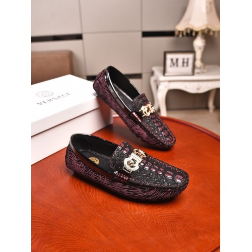 Versace Leather Shoes For Men #873975