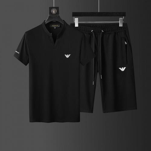 Armani Tracksuits Short Sleeved For Men #874112