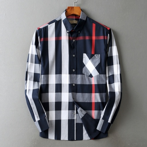 Burberry Shirts Long Sleeved For Men #877644