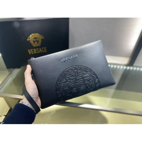 Versace AAA Man Wallets #877913 $72.00 USD, Wholesale Replica Versace AAA Man Wallets