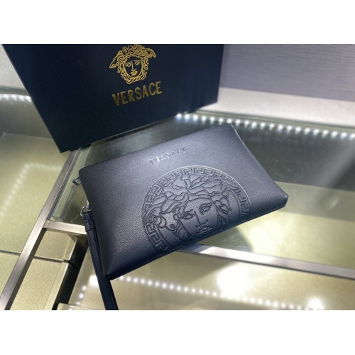 Replica Versace AAA Man Wallets #877913 $72.00 USD for Wholesale