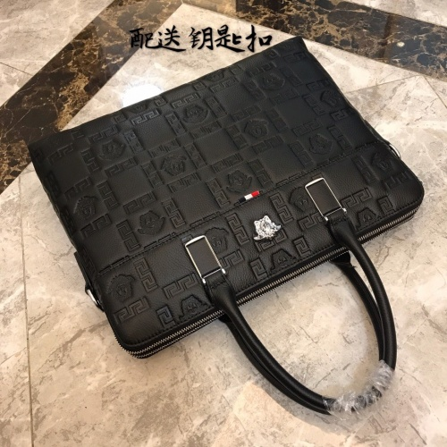 Replica Versace AAA Man Handbags #877974 $118.00 USD for Wholesale