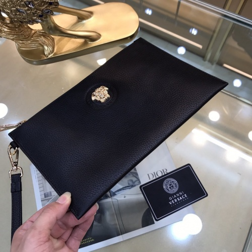 Replica Versace AAA Man Wallets #878009 $76.00 USD for Wholesale