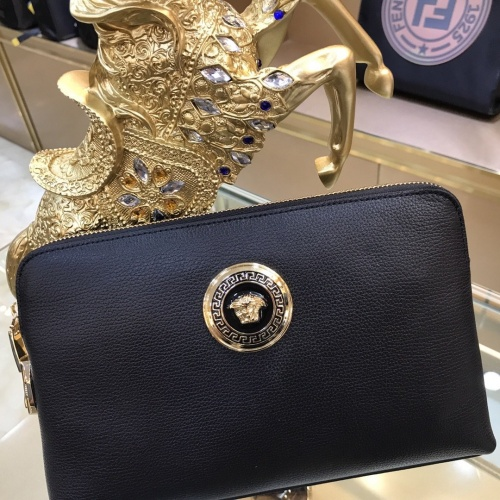 Replica Versace AAA Man Wallets #878015 $80.00 USD for Wholesale