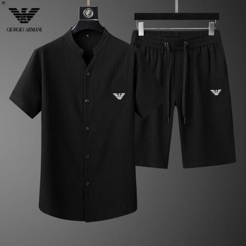 Armani Tracksuits Short Sleeved For Men #878020