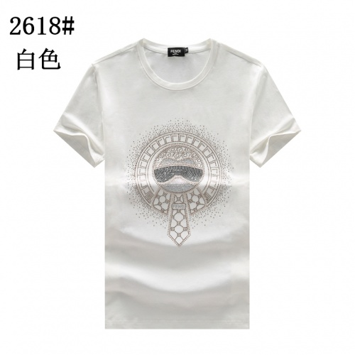 Fendi T-Shirts Short Sleeved For Men #878037 $25.00 USD, Wholesale Replica Fendi T-Shirts
