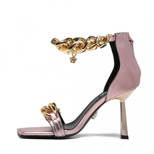 Replica Versace High-Heeled Shoes For Women #878226 $82.00 USD for Wholesale