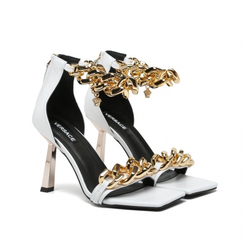Replica Versace High-Heeled Shoes For Women #878227 $82.00 USD for Wholesale