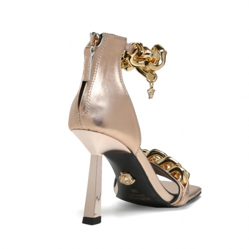 Replica Versace High-Heeled Shoes For Women #878228 $82.00 USD for Wholesale