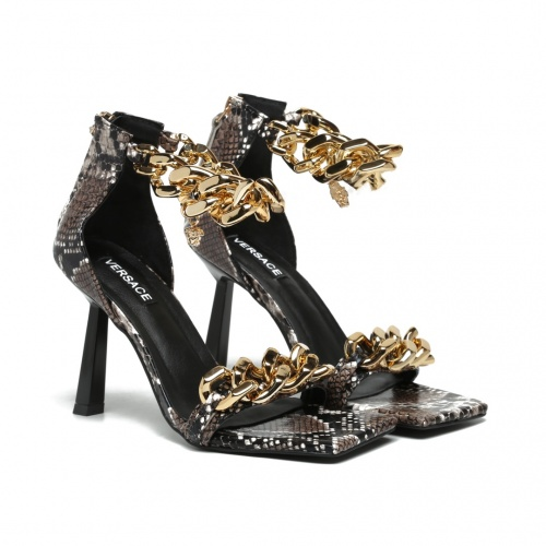 Replica Versace High-Heeled Shoes For Women #878230 $82.00 USD for Wholesale