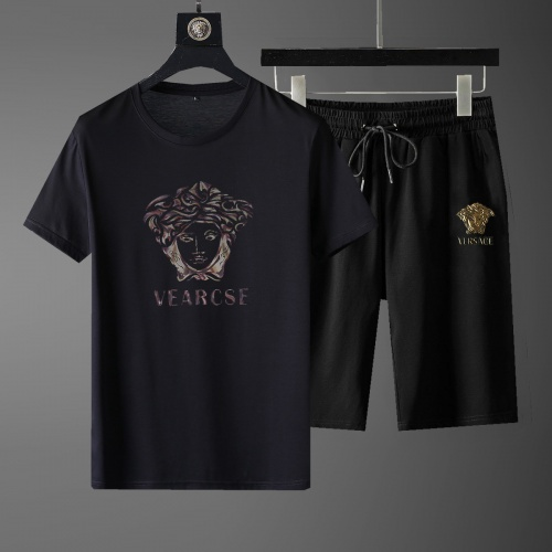 Versace Tracksuits Short Sleeved For Men #878350 $52.00 USD, Wholesale Replica Versace Tracksuits
