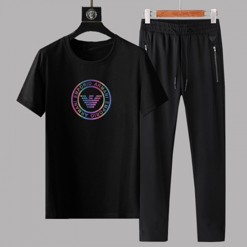 Armani Tracksuits Short Sleeved For Men #878362 $64.00 USD, Wholesale Replica Armani Tracksuits