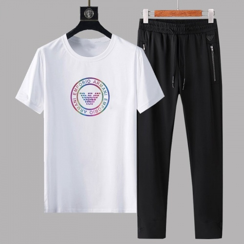 Armani Tracksuits Short Sleeved For Men #878363 $64.00 USD, Wholesale Replica Armani Tracksuits