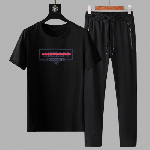 Armani Tracksuits Short Sleeved For Men #878366 $64.00 USD, Wholesale Replica Armani Tracksuits