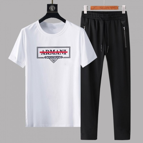Armani Tracksuits Short Sleeved For Men #878367 $64.00 USD, Wholesale Replica Armani Tracksuits