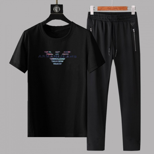 Armani Tracksuits Short Sleeved For Men #878368 $64.00 USD, Wholesale Replica Armani Tracksuits
