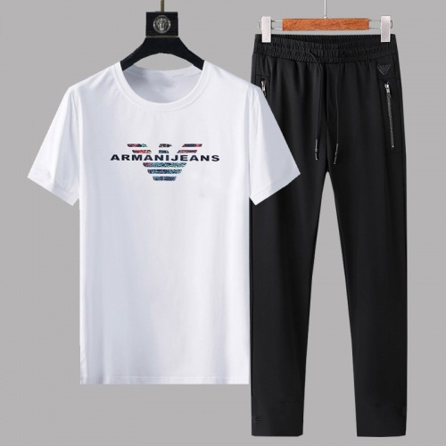 Armani Tracksuits Short Sleeved For Men #878369 $64.00 USD, Wholesale Replica Armani Tracksuits