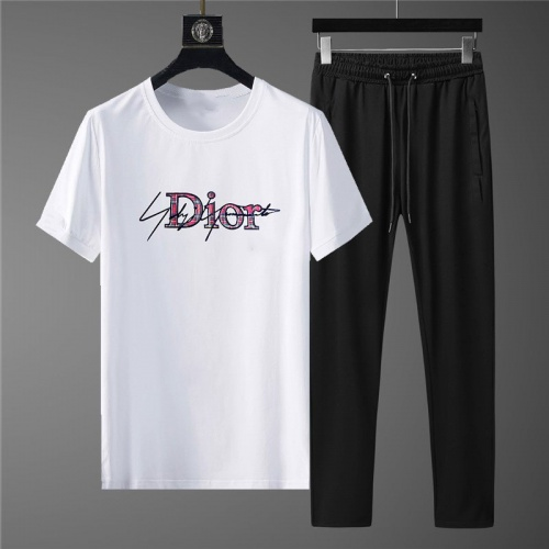 Christian Dior Tracksuits Short Sleeved For Men #878372 $64.00 USD, Wholesale Replica Christian Dior Tracksuits