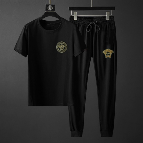 Versace Tracksuits Short Sleeved For Men #878387 $64.00 USD, Wholesale Replica Versace Tracksuits
