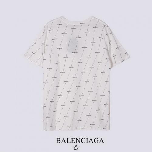 Replica Balenciaga T-Shirts Short Sleeved For Men #878418 $27.00 USD for Wholesale