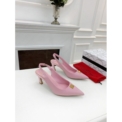 Replica Valentino High-Heeled Shoes For Women #878461 $82.00 USD for Wholesale