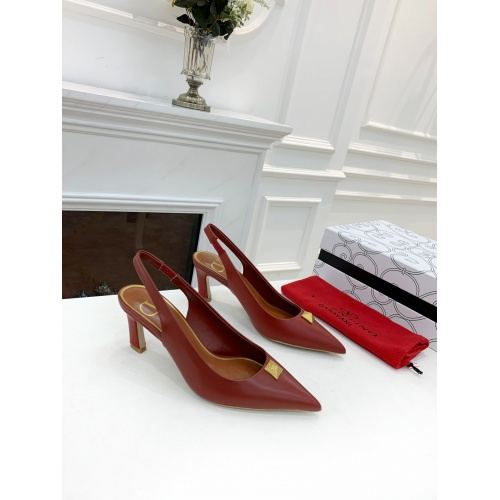 Replica Valentino High-Heeled Shoes For Women #878462 $82.00 USD for Wholesale