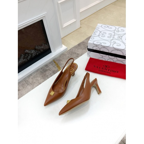 Replica Valentino High-Heeled Shoes For Women #878463 $82.00 USD for Wholesale